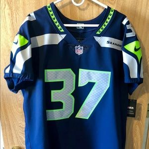 "Nike Other - Nike Elite Vapor Seahawks ""Storm"" #37 Home Jersey"